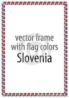 Frame and border of ribbon with the colors of the Slovenia flag.