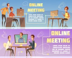 Online Meeting Banners Set - People Characters Download here : https://graphicriver.net/item/online-meeting-banners-set/19639016?s_rank=53&ref=Al-fatih
