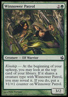 Winnower Patrol - Creature - Elf Warrior - Forest - Green - Morningtide - Magic The Gathering Trading Card