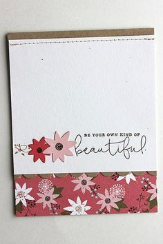 Be Beautiful Card by Heather Nichols for Papertrey Ink (August 2015)