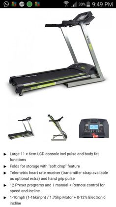 Bodymax treadmill T60 motorised used 1 week as good as brand new LCD + pulse