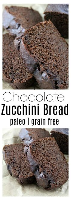 Moist and delicious paleo chocolate zucchini bread with simple ingredients, sweetened with maple syrup. Moist and delicious paleo chocolate zucchini bread with simple ingredients, sweetened with maple syrup. Chocolate Paleo, Chocolate Pumpkin Bread, Paleo Zucchini Bread, Paleo Bread, Paleo Diet, Paleo Baking, Ketogenic Diet, Paleo Pizza, Zucchini Muffins