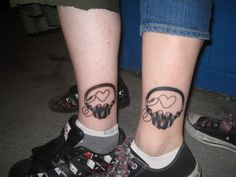super cute matching tattoos