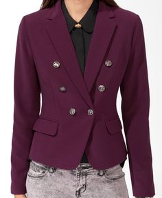 Double-Breasted Jacket | FOREVER21 - 2005757319