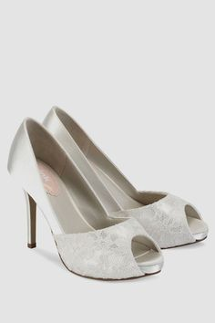Pink by Paradox London Fancy Lace Wedding Shoes