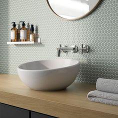 Bath Tiles, Bathroom Floor Tiles, Shower Floor, Green Tile Bathrooms, Tile For Small Bathroom, Toilet Tiles, Modern Bathroom Tile, Wall And Floor Tiles, Kitchen Tiles