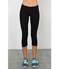 Basic Capri Knit Leggings - Bottoms - Shop