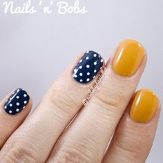 How-to-wear-mustard-navy-polka-dots-3
