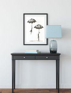 Krystyna Siwek - arrangements Rain Street, White Art, Black And White, Ink Painting, Pattern Art, Entryway Tables, Modern Art, Abstract, Furniture