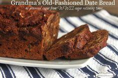 Vintage Recipe: Grandmother's Date Bread Recipe | Melissa K. Norris