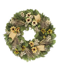 Look at this Fall Daisies Wreath on #zulily today!