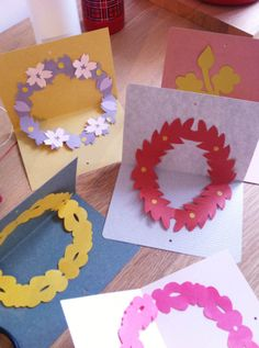 paper wreath cards