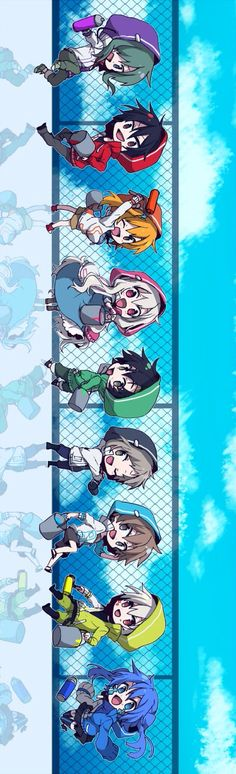 kagerou project/ mekaku city actors chibi in hoods (sideways)