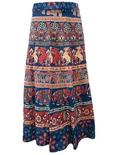 Blue Wrap Skirt- Animals Printed Cotton Wraparound Indian Long Skirts, Gift for Her Mogul Interior http://www.amazon.com/dp/B010CYSX98/ref=cm_sw_r_pi_dp_V6OJvb122JBMM