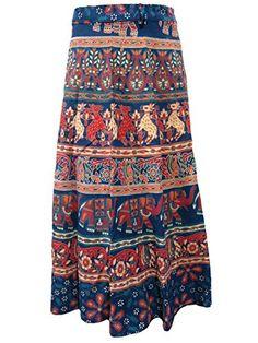 Blue Wrap Skirt- Animals Printed Cotton Wraparound Indian Long Skirts, Gift for Her Mogul Interior http://www.amazon.com/dp/B010CYSX98/ref=cm_sw_r_pi_dp_V6OJvb122JBMM