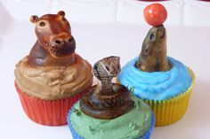 Zoo cupcakes from Ca