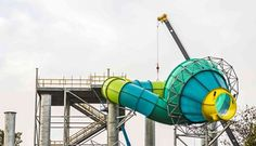 The Colossal Curl funnel has been installed at Adventure Island.