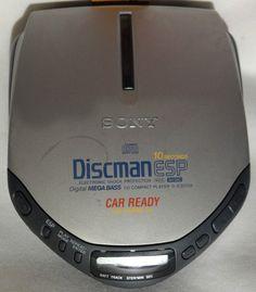 SONY Discman CD Walkman  D-E307CK Portable Player  Digital Mega Bass TESTED #Sony