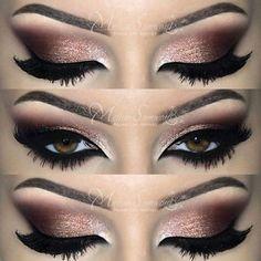 Glittery smoky eye. Pretty. Makeup.