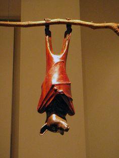 Bat sculpture, via Flickr.