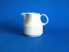Arzberg White Porcelain Milk Jug  German Ceramics by FunkyKoala