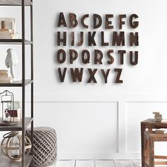 26-Piece Alpha Wall Decor Set #wood #type #lettering #homedecor