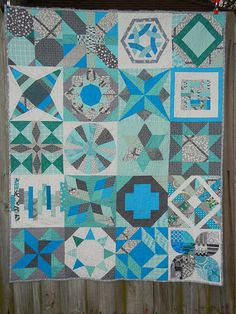 """Sampler quilt. """"Jesse's Quilt"""" by Elizabeth Dackson (don't call me betsy)"""