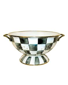 Courtly Check Large Colander by MacKenzie-Childs at Neiman Marcus.