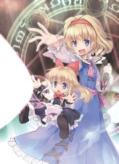 東方 Touhou Alice Liddell, Lewis Carroll, Anime Witch, Future Wallpaper, Creeped Out, Zelda Twilight Princess, Beautiful Anime Girl, Cute Images, Dieselpunk