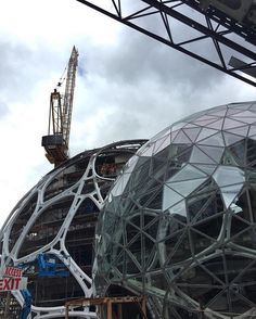 Amazon's biosphere building is taking shape : @adurnwirth snapchat❌nextarch #next_top_architects
