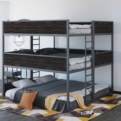 Queen Bunk Beds, Bunk Bed Rooms, Bunk Bed With Trundle, 3 Bunk Beds, Cabin Bunk Beds, Adult Bunk Beds, Bunk Beds Built In, Room Design Bedroom, Room Ideas Bedroom