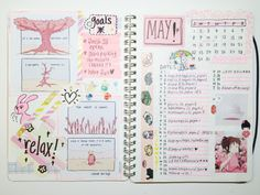 studyowls: 04/06/2016 // may '16 spreads! after my exams ended...