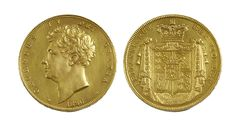 Lot 352 George IV gold proof £5 piece, 1826 Estimated at £2800-£2600 Sold for 4800 at our August 2013 Auction  www.afbrock.co.uk