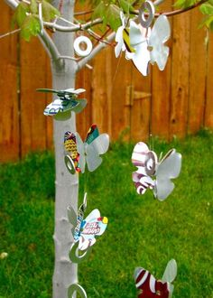 Soda Can Wind Chimes | AllFreeHolidayCrafts.com