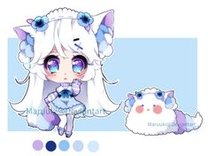 bbpp event Day 1 auction [closed] by Maruuki (STANDS FOR BLOWBALL POMPOMS, they bloom from blowball flowers and are very delicate and shy but sometimes live as pets)