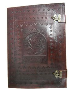 A3 size Tree of life Handmade embossed leather leather journal leather notebook leather diary leather sketchbook on Etsy, $89.00
