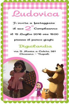 Invito di Masha e Orso