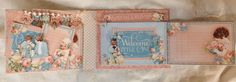 annes papercreations: Graphic 45 Precious Memories mini album with 6 x 4...
