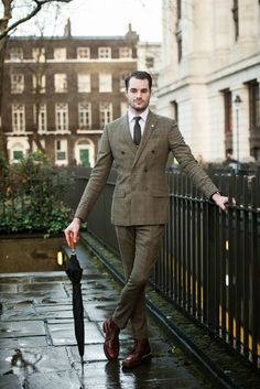 DB suit and Grenson boots #mensfashion #sartorial #tie #colour #menswear #smart #gentleman #elegant #dapper #tweed #country