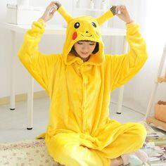 Whole family kids boy girl flannel animal pajamas one piece women cosplay pokemon pikachu pajamas pikachu onesie entero mujer