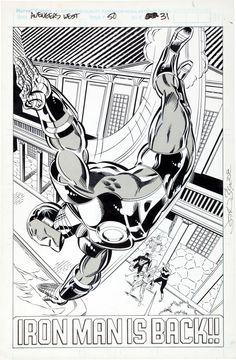 Avengers West Coast page 31 by John Byrne Mike Machlan 1989 Marvel Comic Universe, Marvel Dc Comics, Marvel Heroes, Comic Book Artists, Comic Artist, Comic Books Art, Superhero Coloring, Black And White Comics, John Byrne