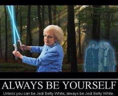 Star Wars and Betty White humor