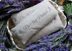 Lavender rice sachets - can be used as a sleep mask, for aromatherapy, or as a heat pack. My favorite part - it's not nearly as dorky as most sleep masks!