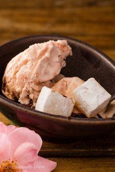 I love making my own ice cream. This recipe for Turkish Delight Ice Cream is a simple no churn recipe flavoured with rose water and Turkish Delight. Finished with an easy chocolate sauce this recipe makes a wonderful, slightly exotic festive dessert.