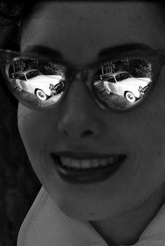 Robert Doisneau shot for a Simca ad, from Robert Doisneau, Rain Photography, Photography Lessons, Color Photography, Edward Weston, Henri Cartier Bresson, Andre Kertesz, Portraits, Minimalist Photography