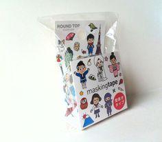 Kawaii Japan Deco Masking Tape: Round Top Series Japan Travel #washi #deco #masking #tape #japanese #kawaii
