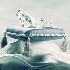 Cinderella's glass slipper.  So pretty