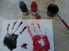 Kreatives Gestalten Handdruck