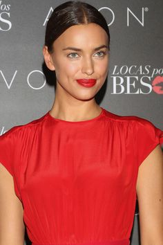 How to get Irina Shayk's glossy red lips: