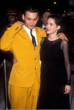 Winona Ryder's gloomy tomboy looks of the 90s are the blueprint for red carpet goth looks! |15 Gothic Red Carpet Looks #hair #style